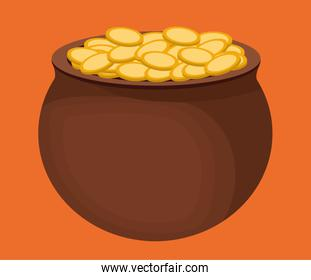 coins pot of gold icon image