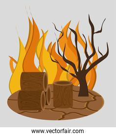 forest fire icon image