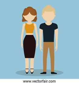 young couple icon