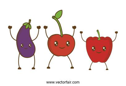 fruits cartoon icon