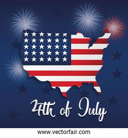 USA independence day stars pattern