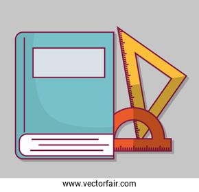 book and rulers icon