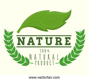 nature and leaves icon