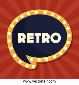 retro speech bubble icon
