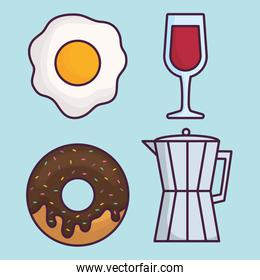 coffee and food icon