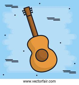 guitar musical instrument icon