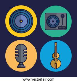 microphone and music related icons