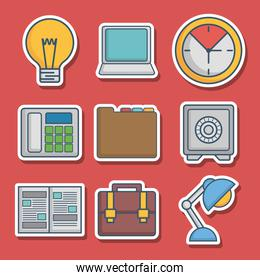 office elements related icons