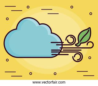 clouds and wind icon