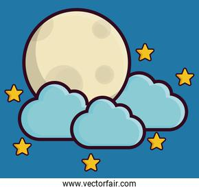 moon and clouds icon