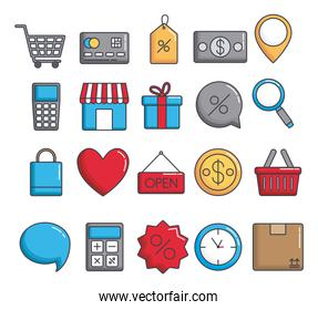 shopping related icons