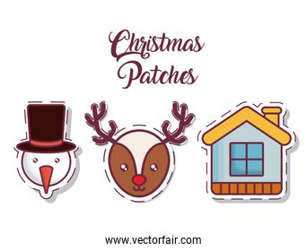 christmas patches design