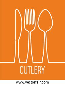 fork spoon knife cutlery symbol design