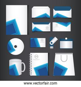 corporate brand identity template set