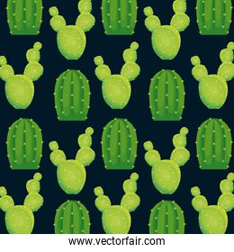 colorful cactus seamless pattern