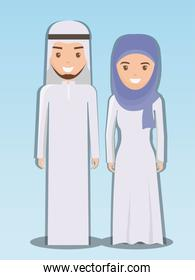 family and social concept muslim couple