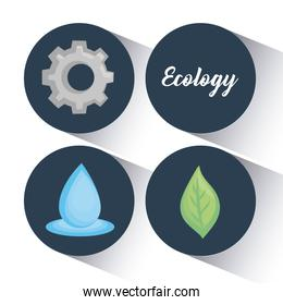 ecology clean energy icons