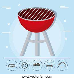 barbecue grill family summer picnic