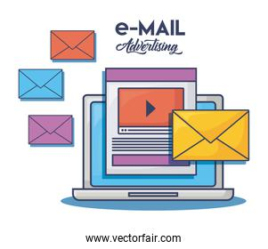 Email advertising design
