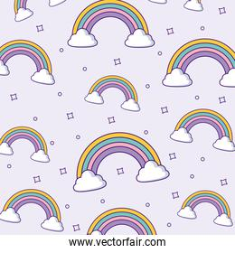rainbows and clouds design