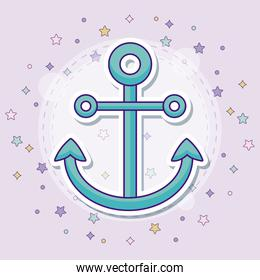 anchor icon with colorful