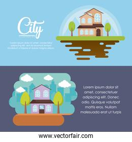 city and houses design