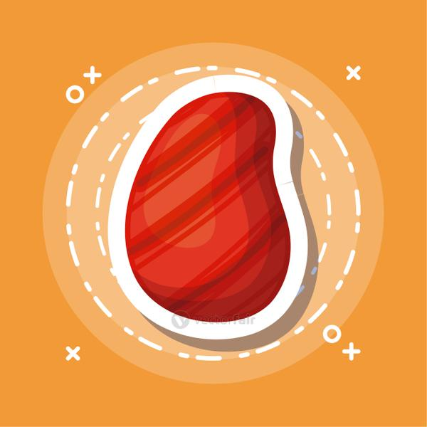 steak of meat icon