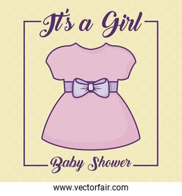Baby shower design vector ilustration icon baby girls