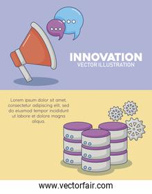 Technology and innovation design icon vector ilustration