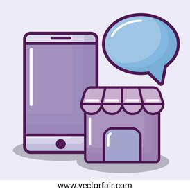 smartphone and electronic business finance
