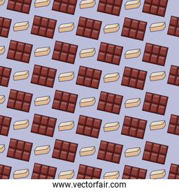 chocolate bars icon pattern
