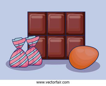 chocolate bar with candies icon