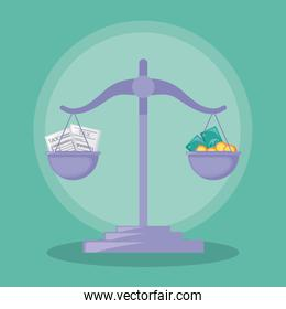 balance finance economy isolated icon
