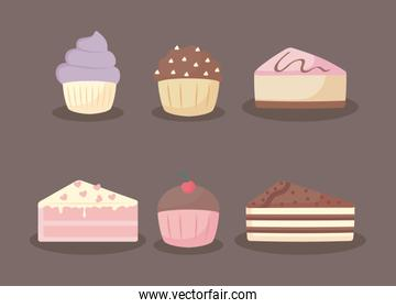 sweet and delicious cakes and cupcakes
