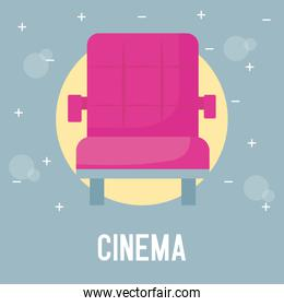 chair of cinema isolated icon