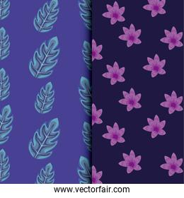 tropical leafs icon patterns