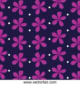 flowers natural icons pattern
