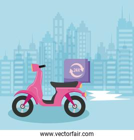 delivery service motorcycle of 24 hour service