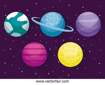 planets space universe icon