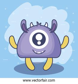 cute monster card icon