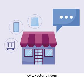 social media marketing with store building