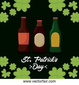 beers bottles of st patrick day