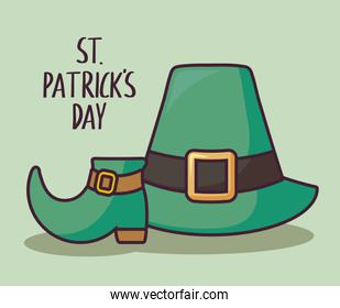 leprechaun hat with boot of st patrick day
