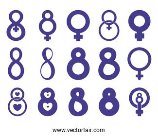 set icons for women day