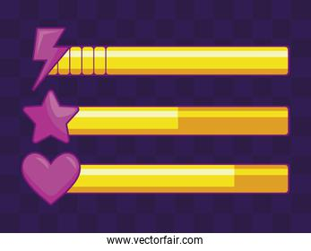 classic video game items bars
