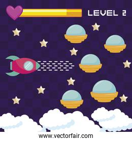 classic video game ufos flying