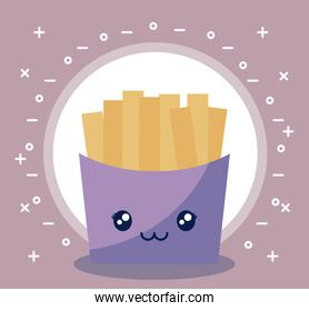 french fries kawaii character