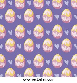 pattern of easter eggs decoration