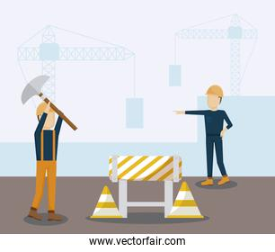 construction workers avatars characters