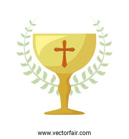 chalice sacred and crown of leaves